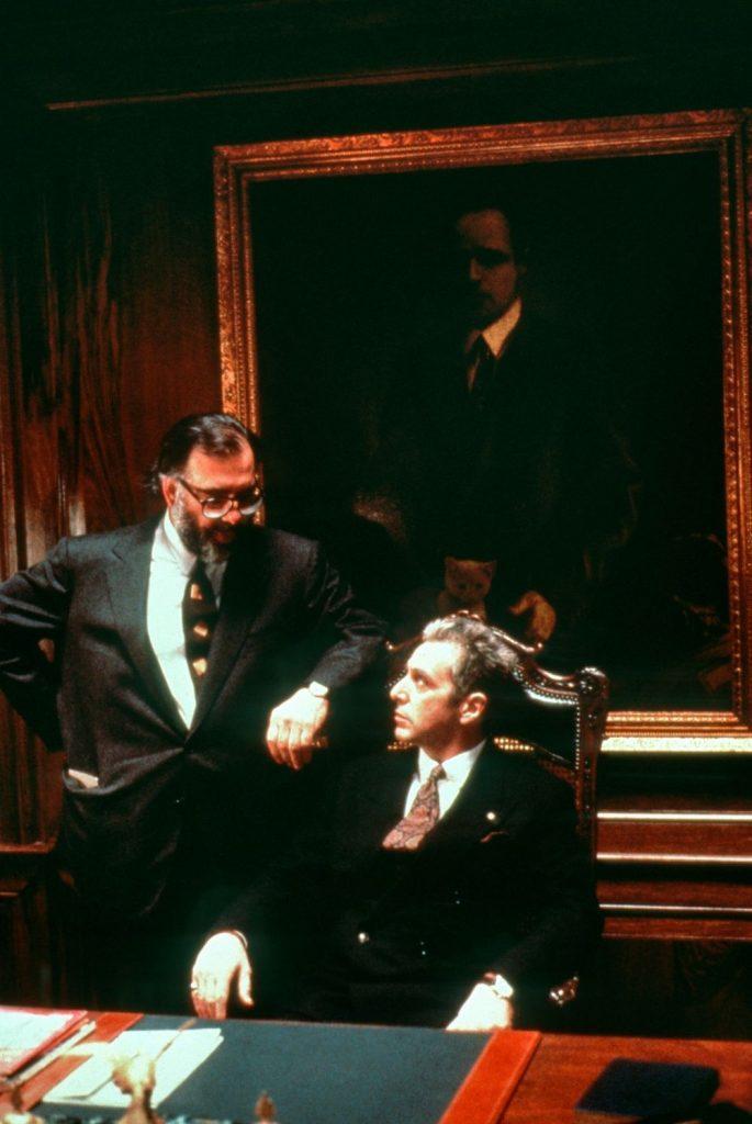 Coppola y Pacino, antes del rodaje.. El Padrino: Parte III