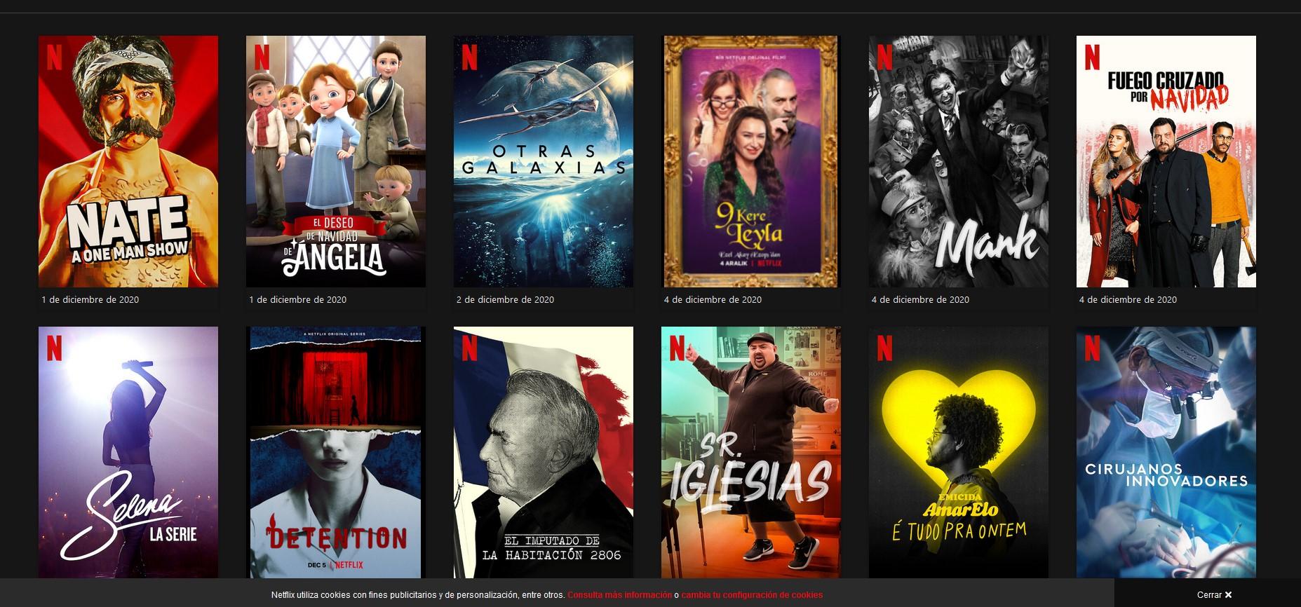 Estrenos de series en Netflix en diciembre