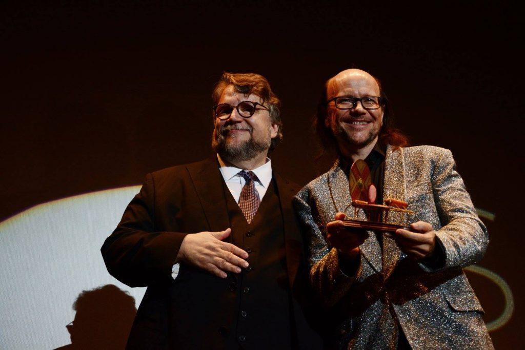 Santiago Segura con su amigo Guillermo Del Toro.
