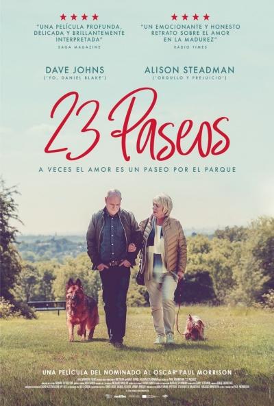 Cartel de 23 paseos. Caramel Films. estreno destacado entre los estrenos del 15 de enero