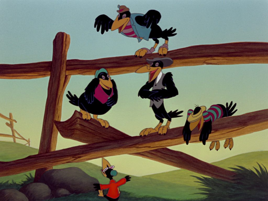 los cuervos que enseñan a volar a Dumbo