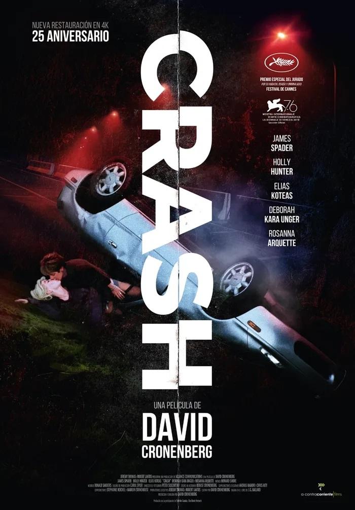 Cartel de Crash.  El esperado reestreno entre los estrenos del 29 de enero. A CONTRACORRIENTE.