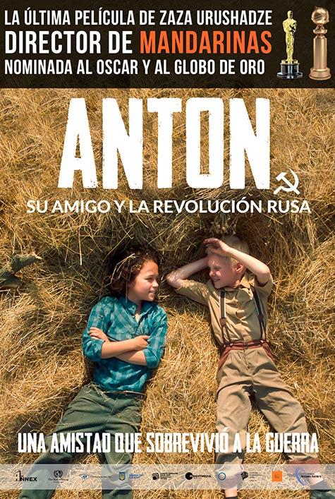 Cartel de Anton, su amigo y la revolución rusa