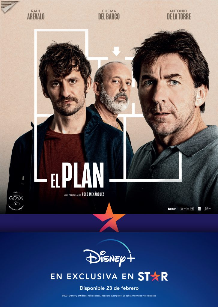 Póster de El plan. DISNEY+. Las producciones españolas encontrarán su hueco en Star