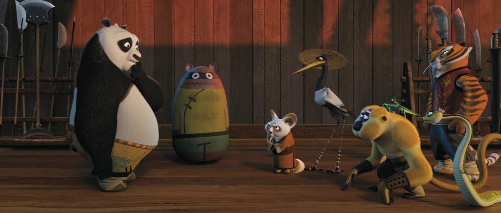 Escena de Kung Fu Panda. DREAMWORKS