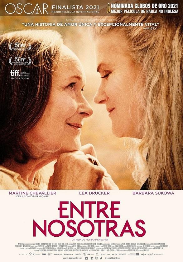 Una finalista en los Oscar de 2021. en los estrenos del 19 de febrero. Cartel de 'Entre nosotras'. KARMA
