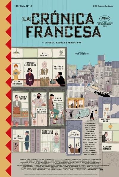 Cartel de La Crónica Francesa. 20TH CENTURY STUDIOS ESPAÑA