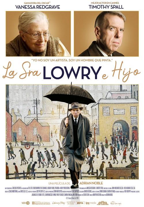 Cartel de La Sra. Lowry e hijo. costumbrismo británico en los estrenos del 12 de febrero