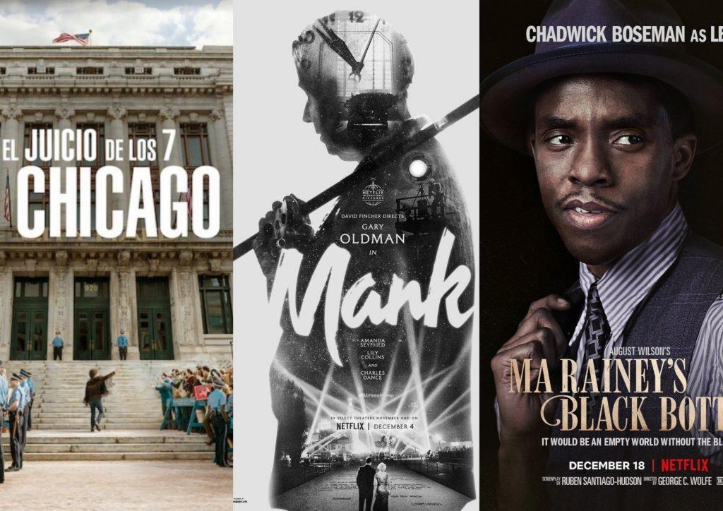 El juicio de los Siete de Chicago, Mank y La madre del blues son las grandes bazas de Netflix en estas nominaciones a los Oscar. NETFLIX