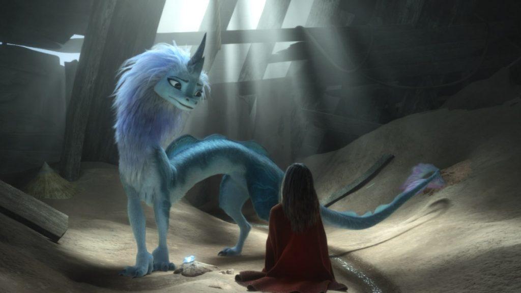 Raya es amiga de animales de leyenda, como los dragones. DISNEY