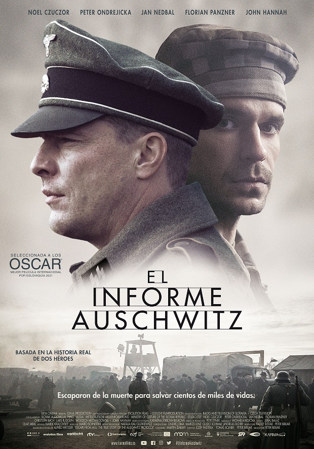 Cartel de El informe Auschwitz. KARMA