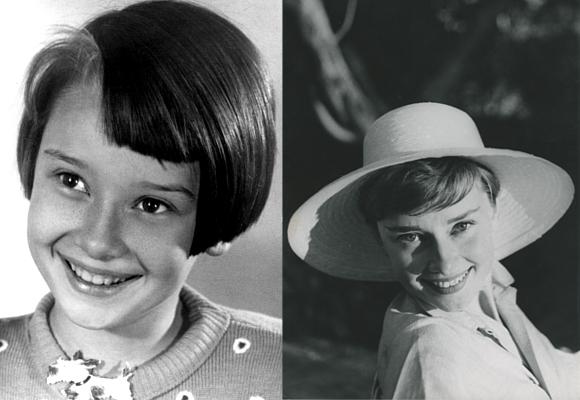Audrey Hepburn de niña y joven. Luxonomist