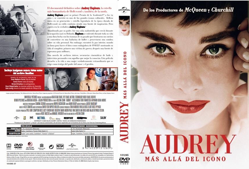 carátula DVD Audrey más allá del icono, de ARVI