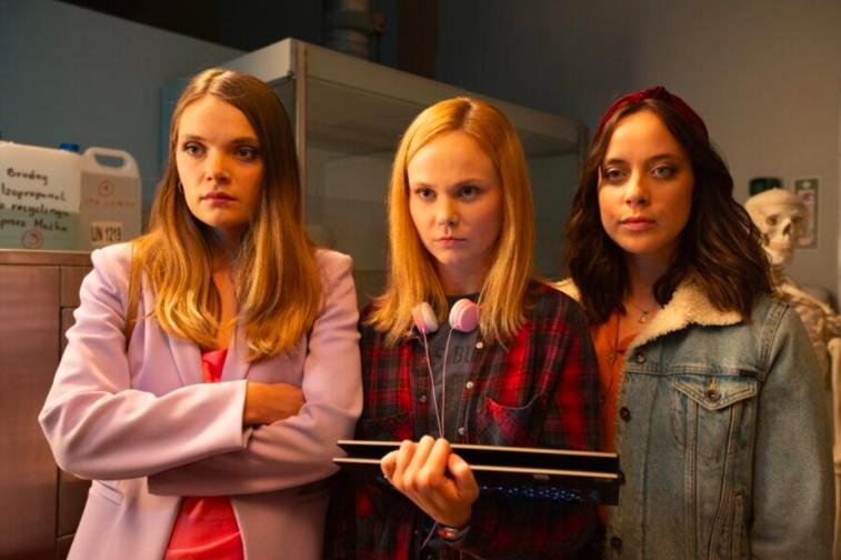 Monika, Natalia y Paulina, tres personajes de Sexify en busca de una respuesta al orgasmo femenino. NETFLIX