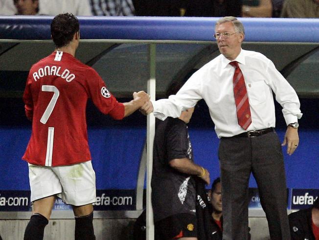 Sir Alex Ferguson y Cristiano Ronaldo