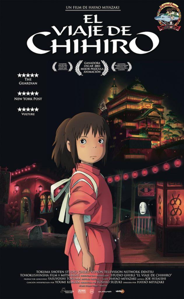 Póster de El viaje de Chihiro. VÉRTIGO FILMS