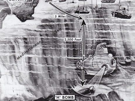 Rescate bomba con el submarino Alvin