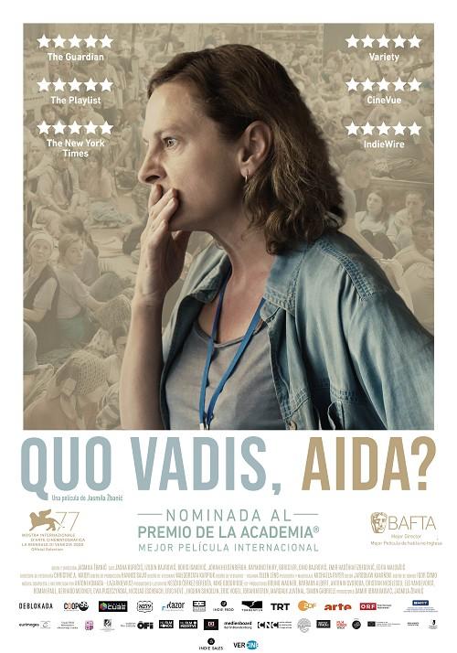 Póster de Quo Vadis, Aida?. VERCINE