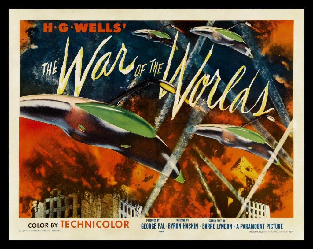 Cartel de 'La guerra de los mundos' (Byrin Haskin, 1952)
