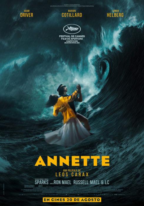 Póster de Annette. ELASTICAFILMS