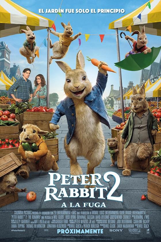 Póster de Peter Rabbit 2: A la fuga. SONY