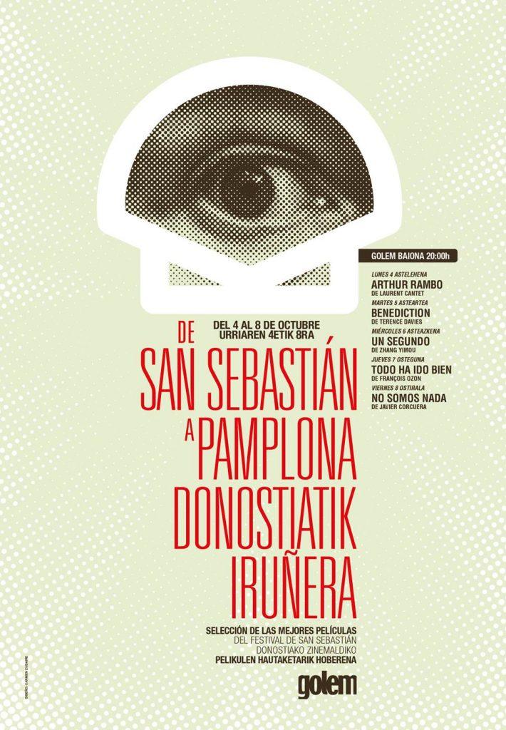 Cartel del XI De San Sebastián a Pamplona. GOLEM